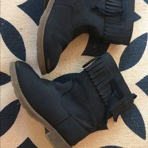 Little Girls Fringe Boots
